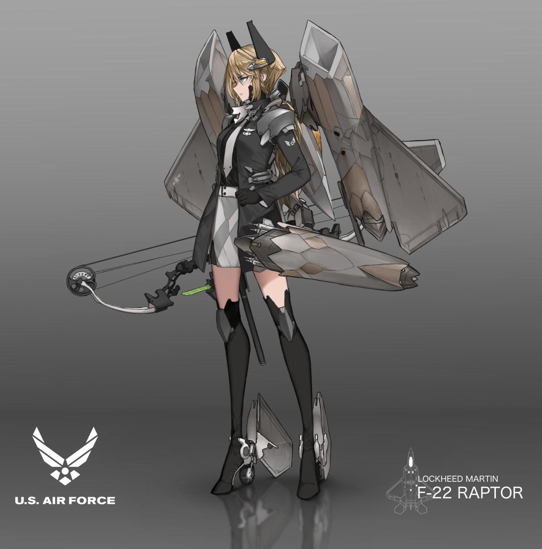 Jetgirl concept : F22 Raptor