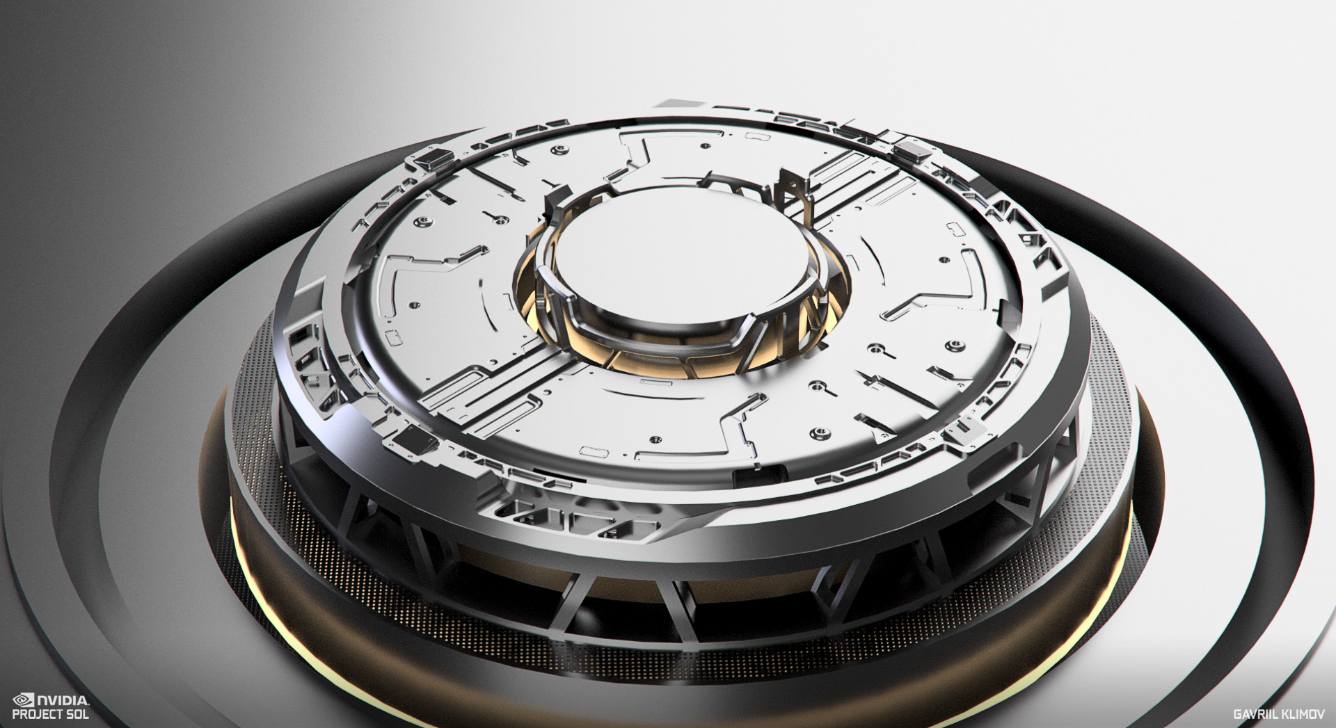 I started with the very inner ring and started to model inwards from outwards. Work in progress render