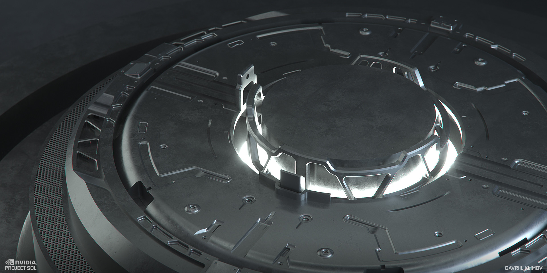 I started with the very inner ring and started to model inwards from outwards. Work in progress render.