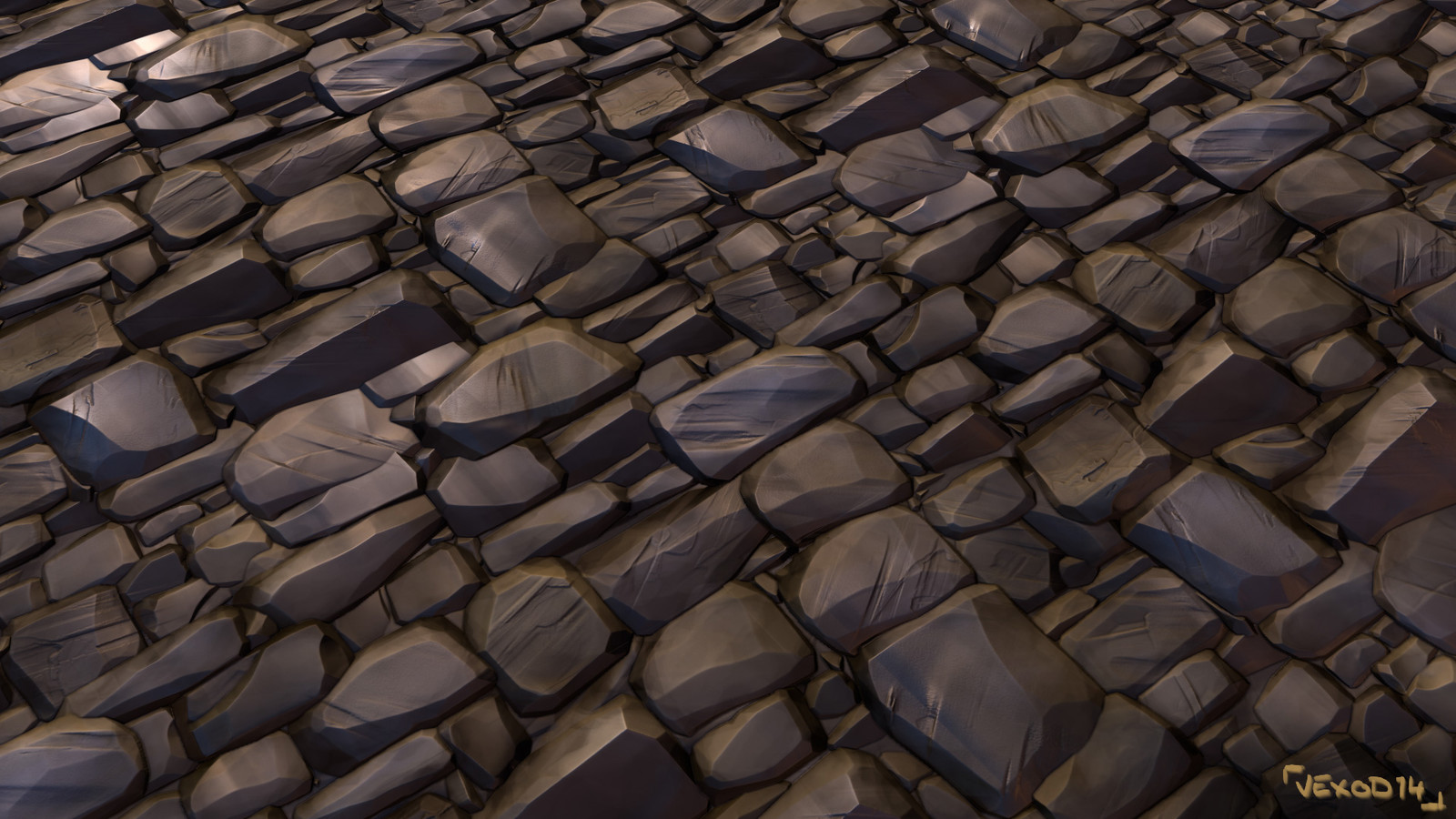 Tileable texture of bricks wall