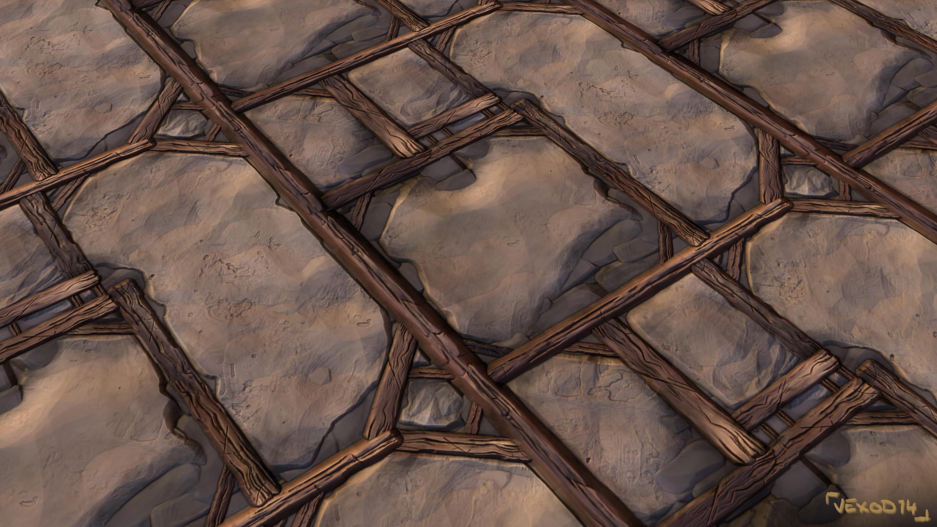Etienne beschet texturing tile wallplastertimbered