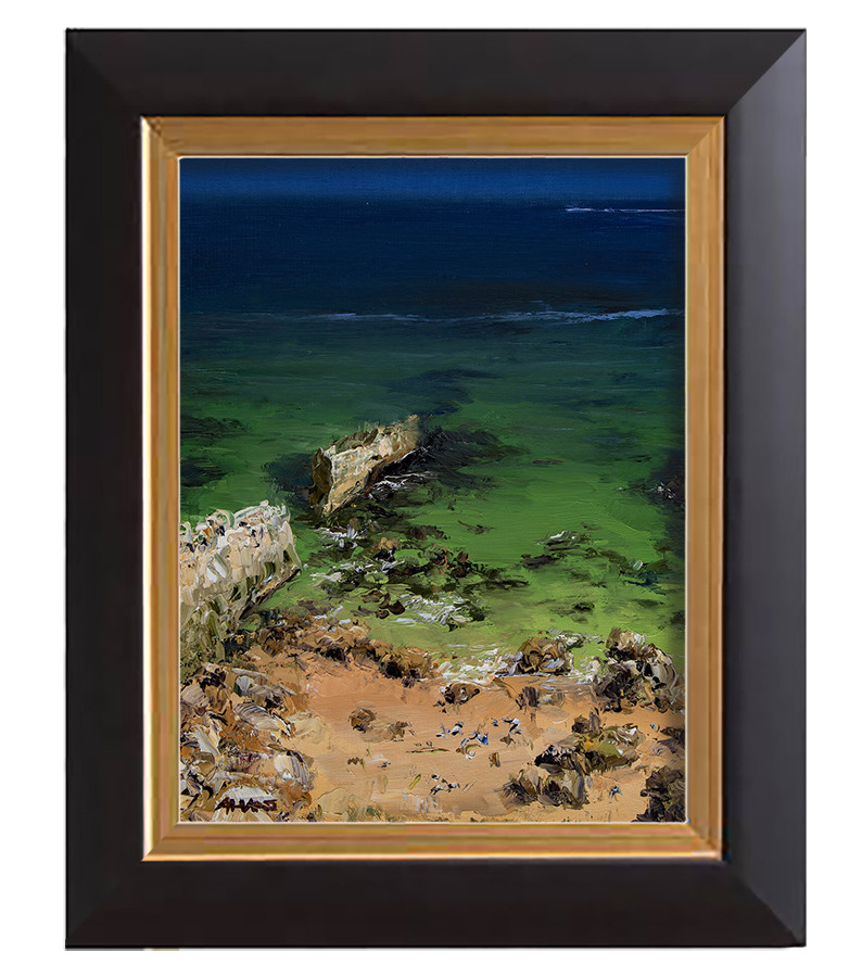Arthur haas crumbling cliff framed small