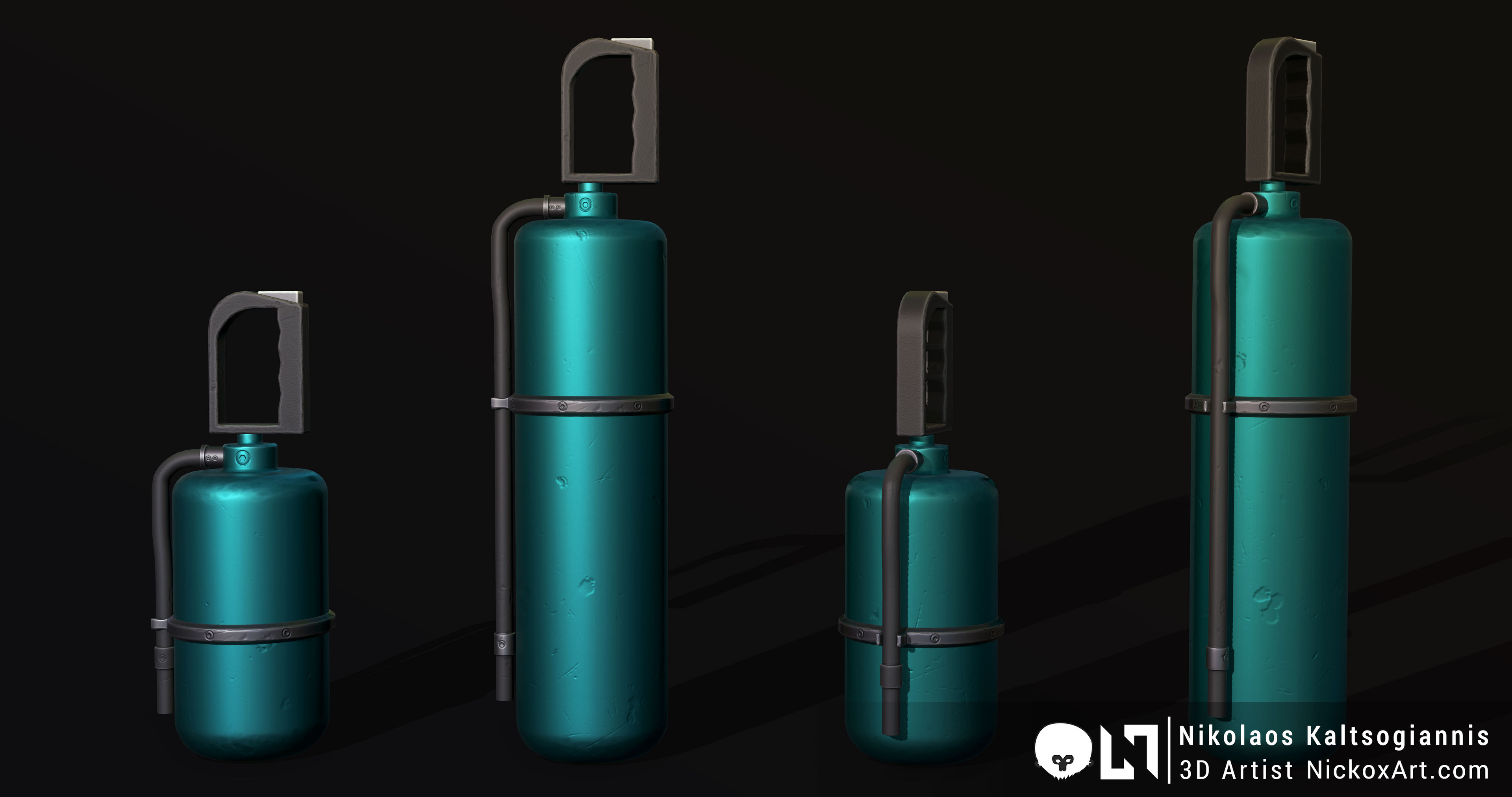 Fire Extinguisher Texture Variations.