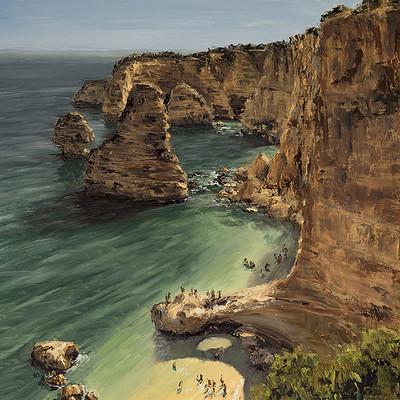 "Praia da Marinha -for sale 15.7x19.6"" (40x50cm)"