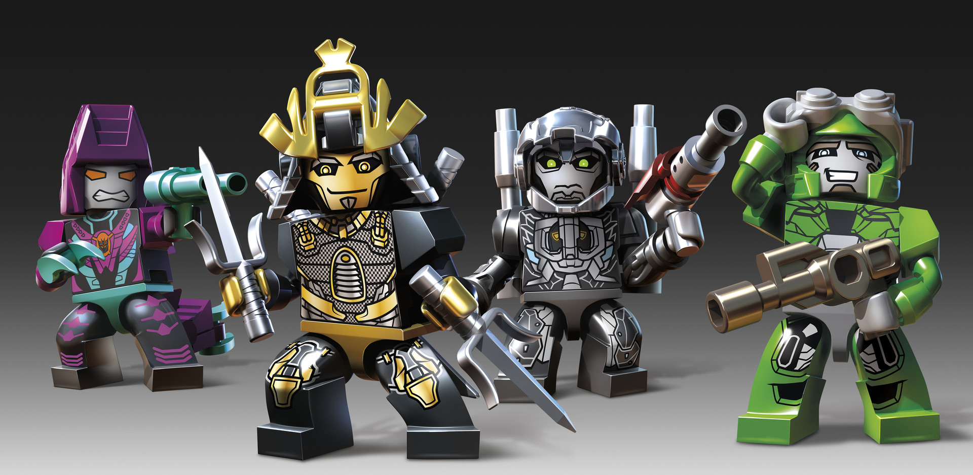 Designed helmets for the Transformer movie Kre-O line