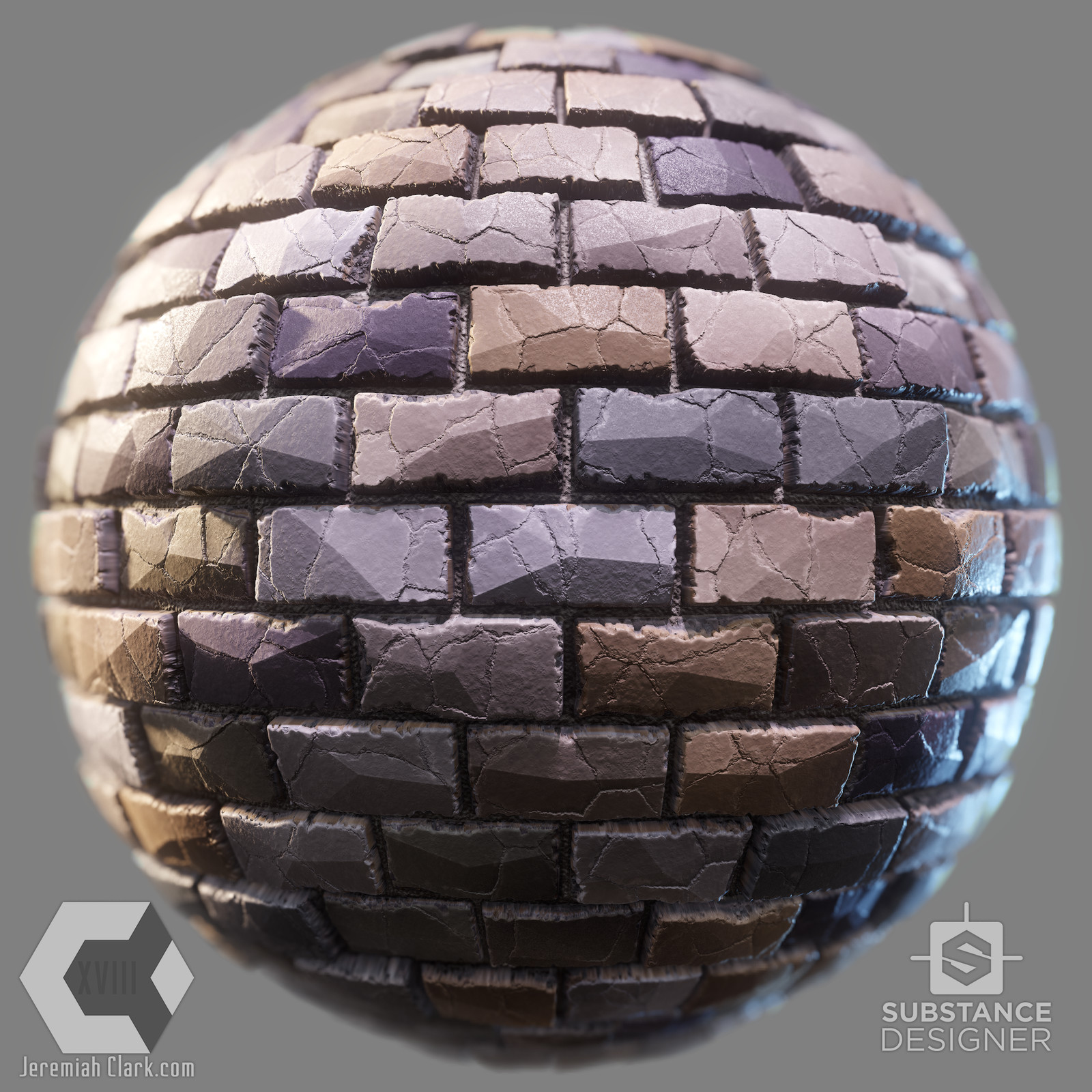 Fully procedural stylized stone wall substance. Default options setup.