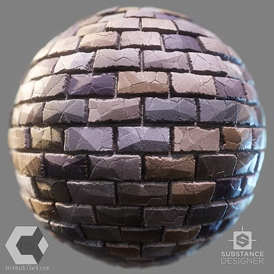 Stylized Stone Wall Substance (fully procedural with exposed options)