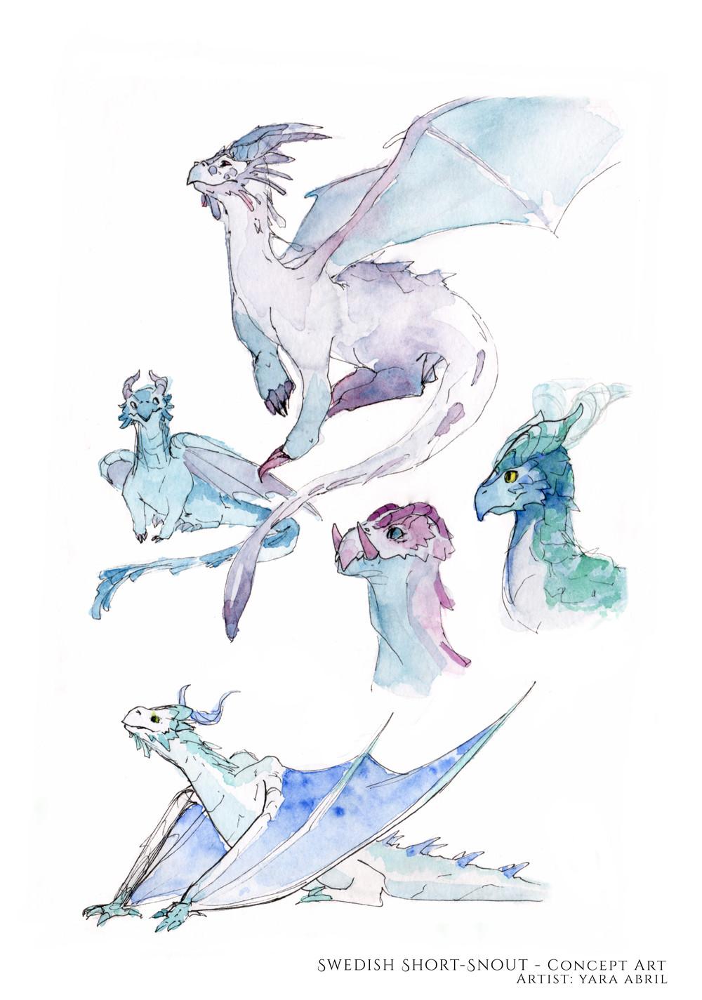 Dragon concept (watercolor)