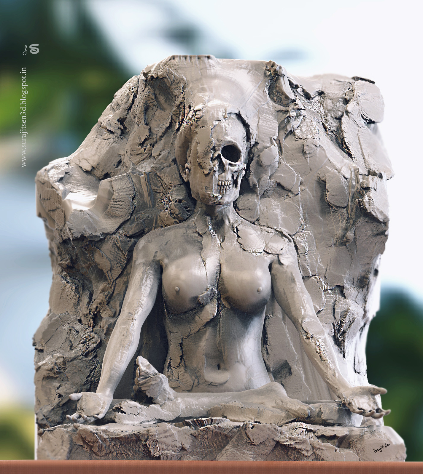 """""""Lotus - Halfhearted"""". .....one of my rough sculpts.  Wish to share  :)"""