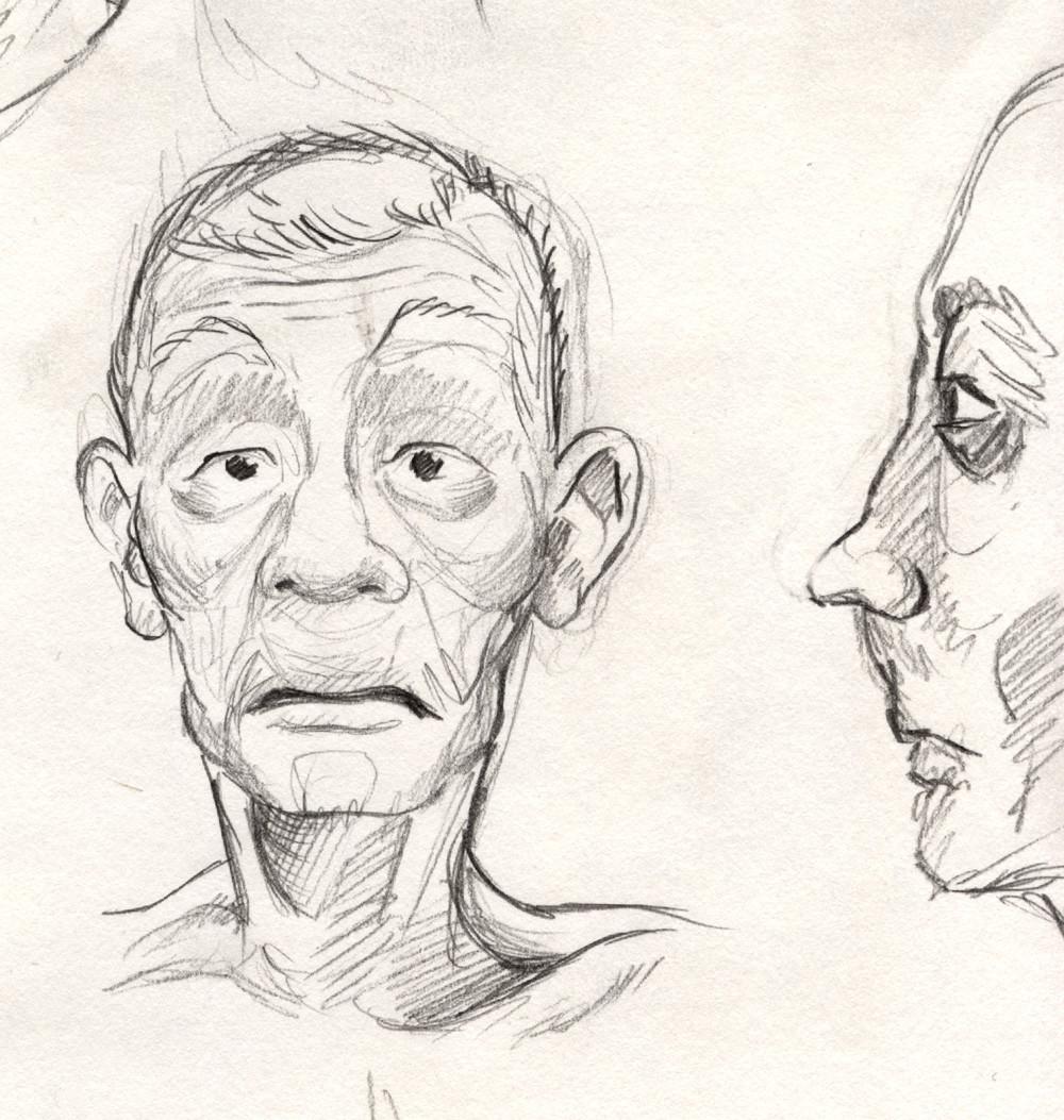 Facial concept doodle
