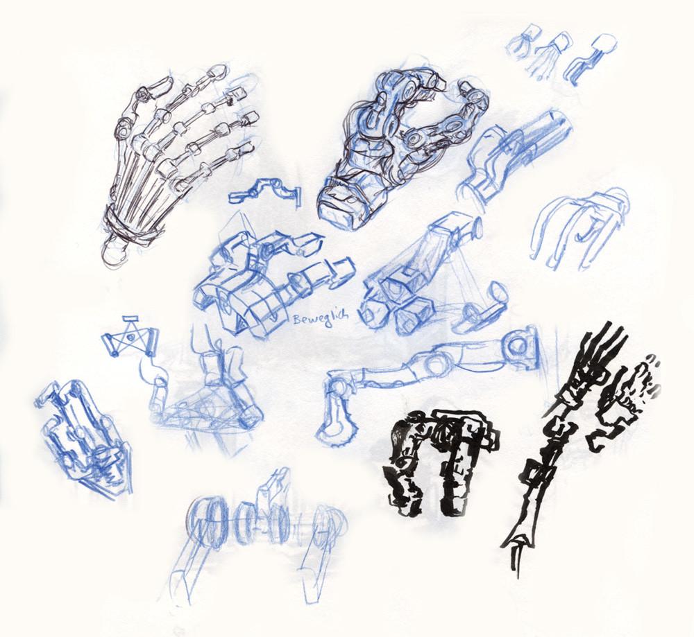 Artificial hand doodles