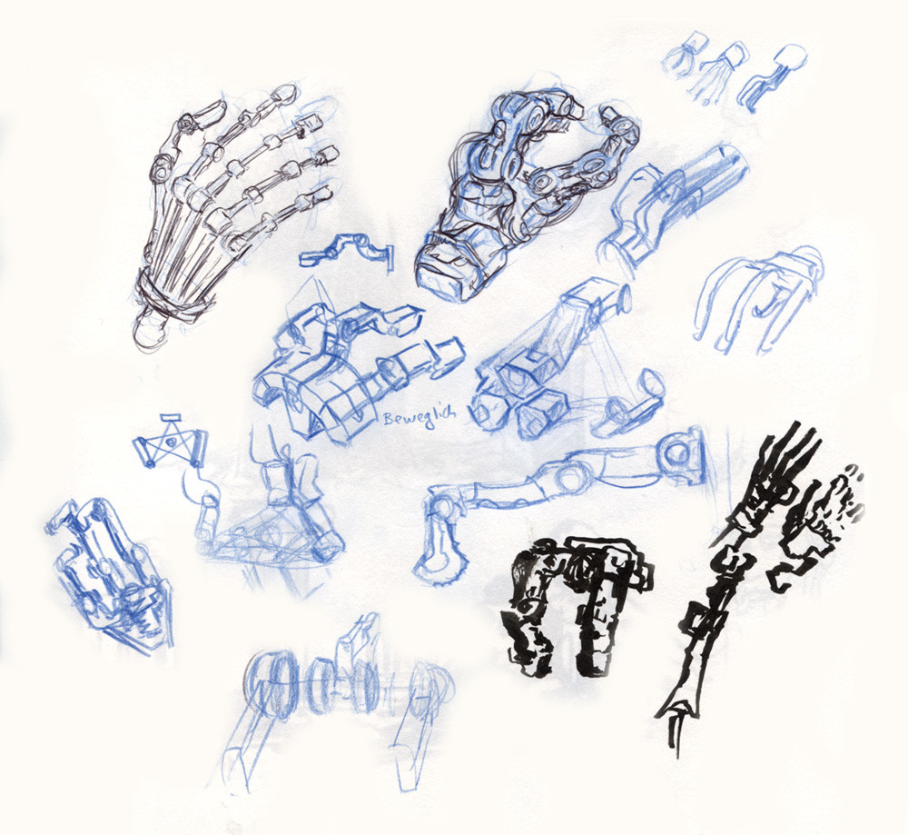 Artificial hand doodles