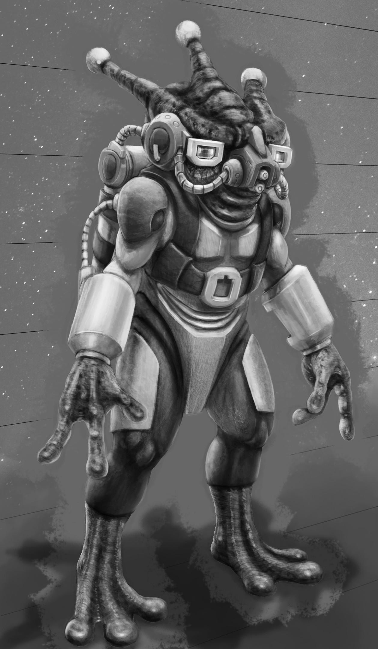 Artstation Retro Alien Pilot Oscar Pinchen