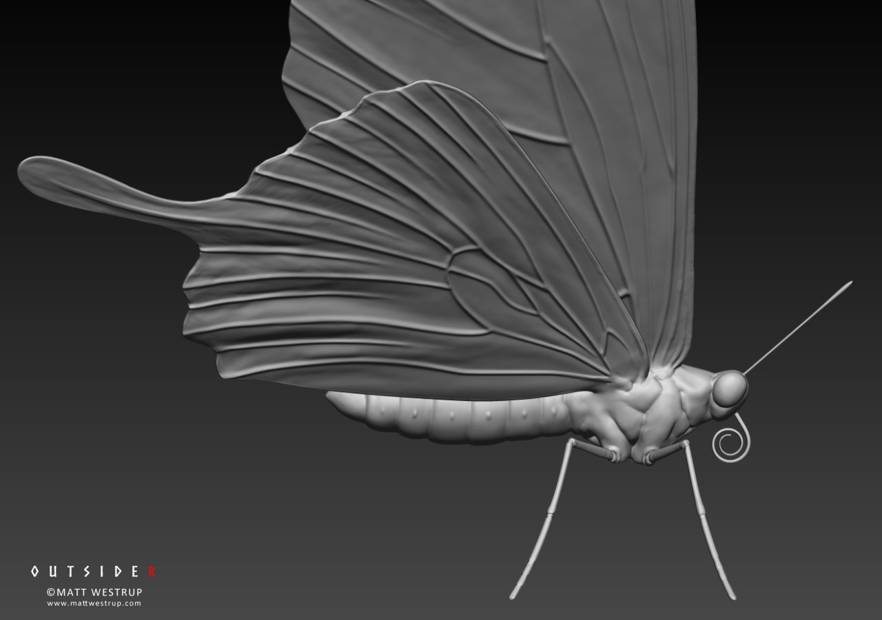Character ark zbrush butterfly 03