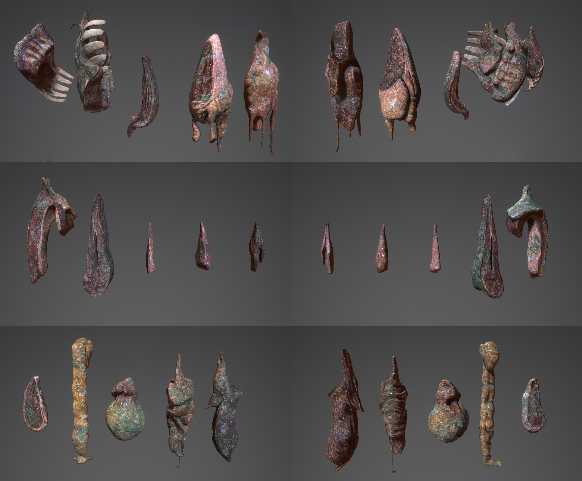 The modelled and textured monju meat chunks