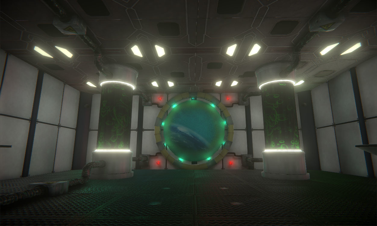 Game Environment • Space Station Portal Room
