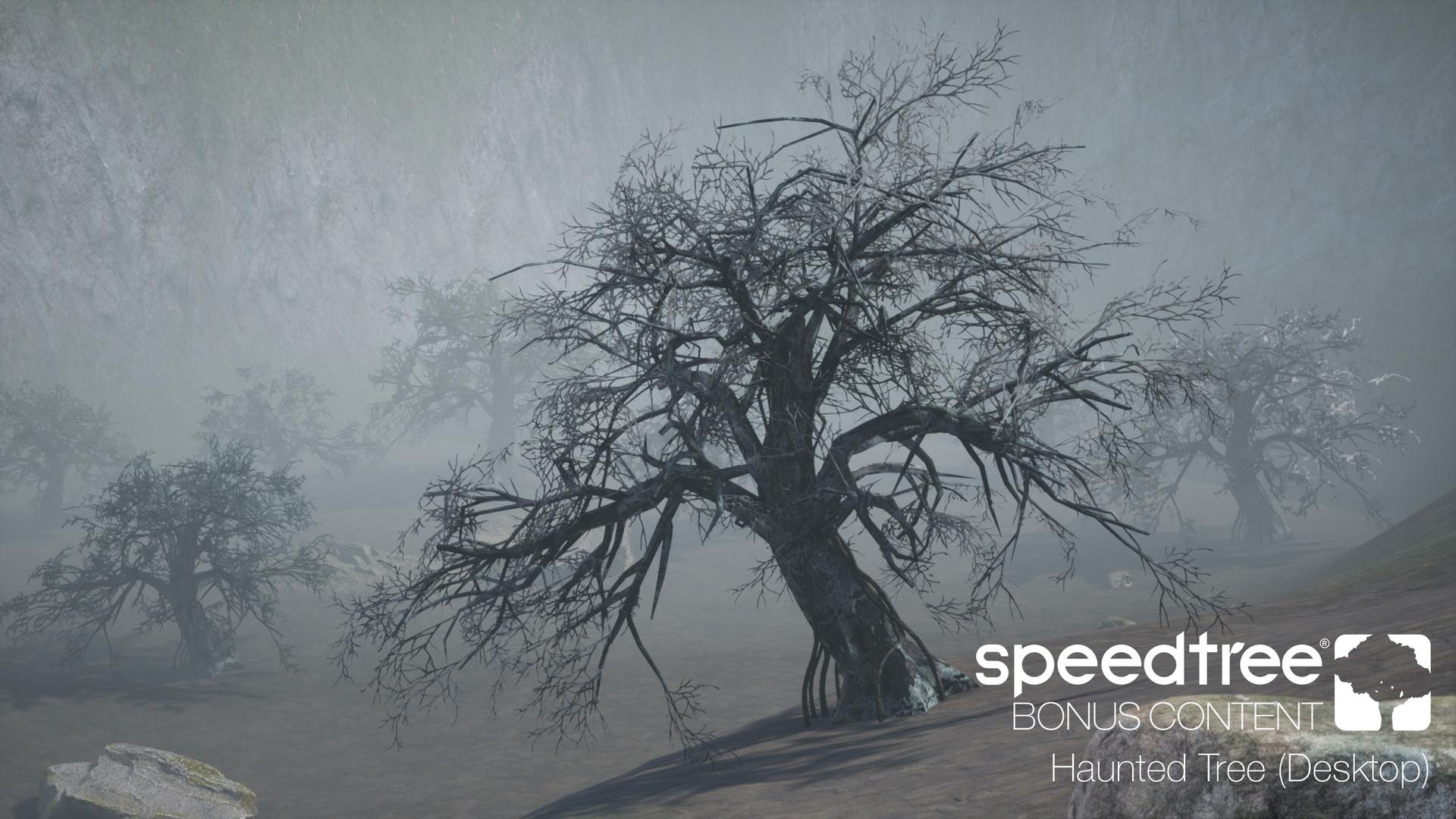 ArtStation - October SpeedTree Bonus Content (Spooky Environment