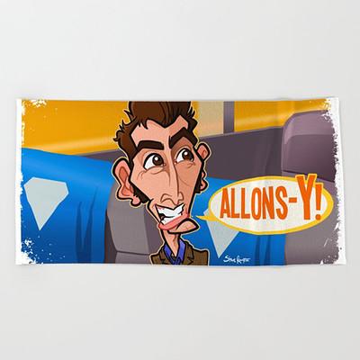 Steve rampton allons y418594 beach towels