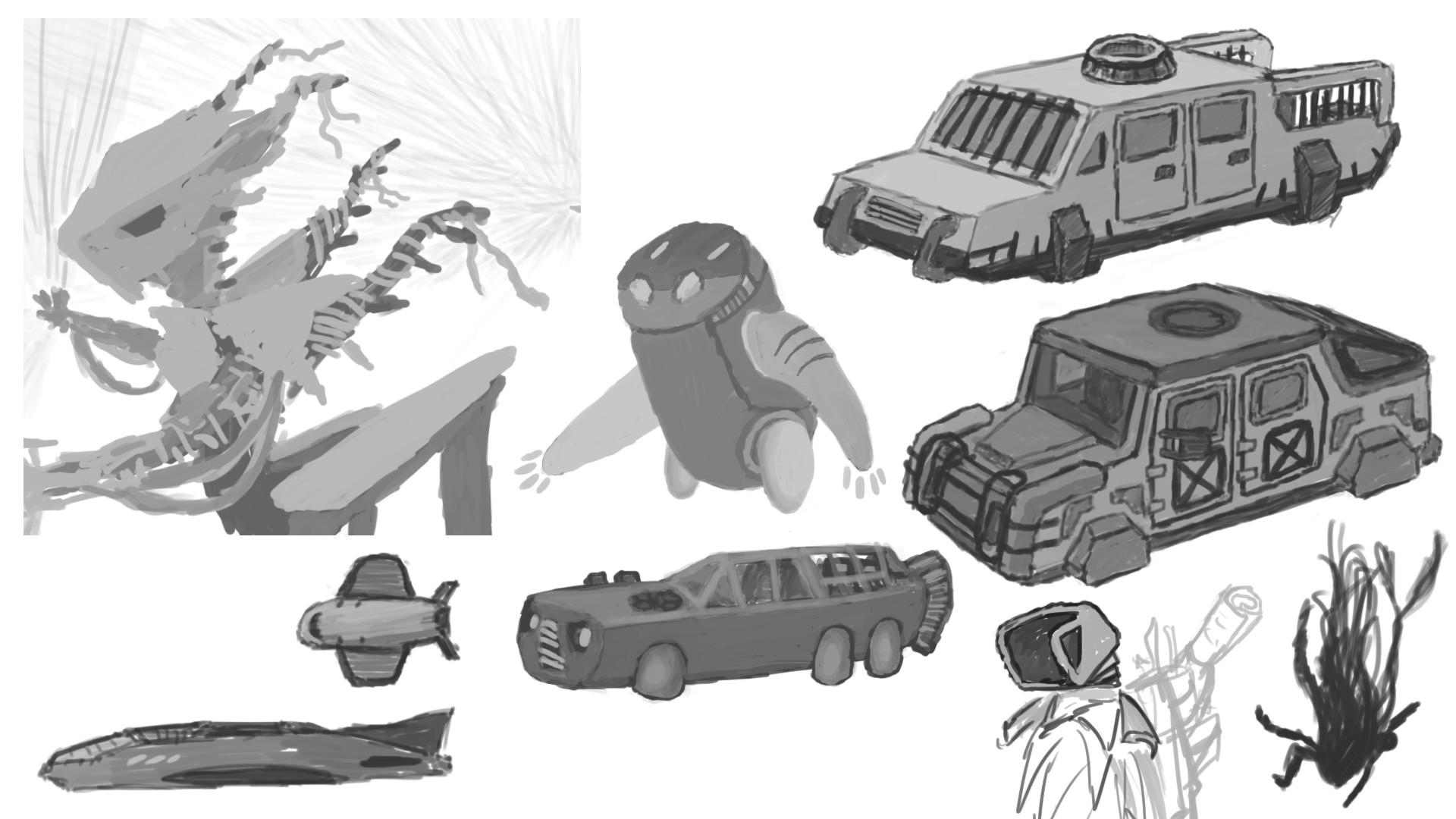 Alexander laheij alien robot cars