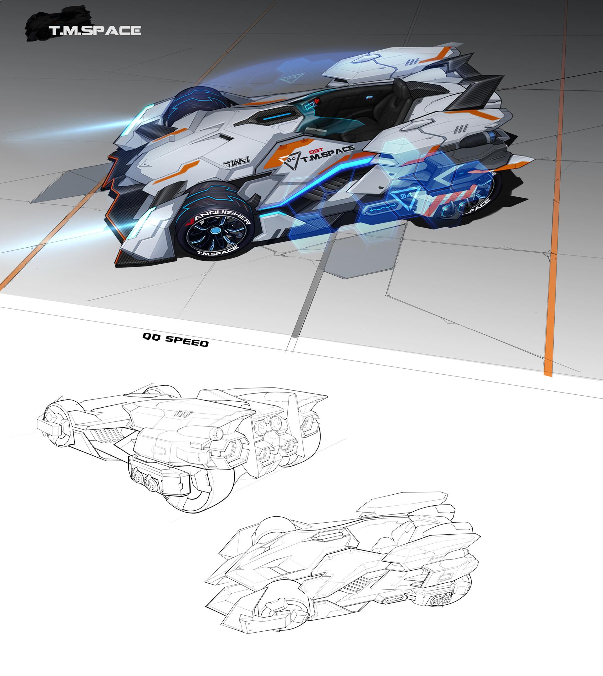 Sky 陈 Qq飞车赛车qq Speed Vanquisher The Car Design