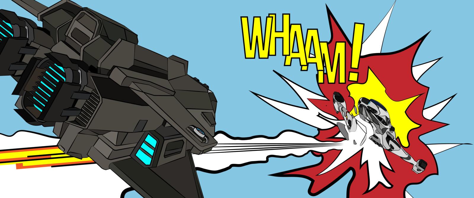 Elite Dangerous - WHAAM! 3304, a tribute to Roy Lichtenstein