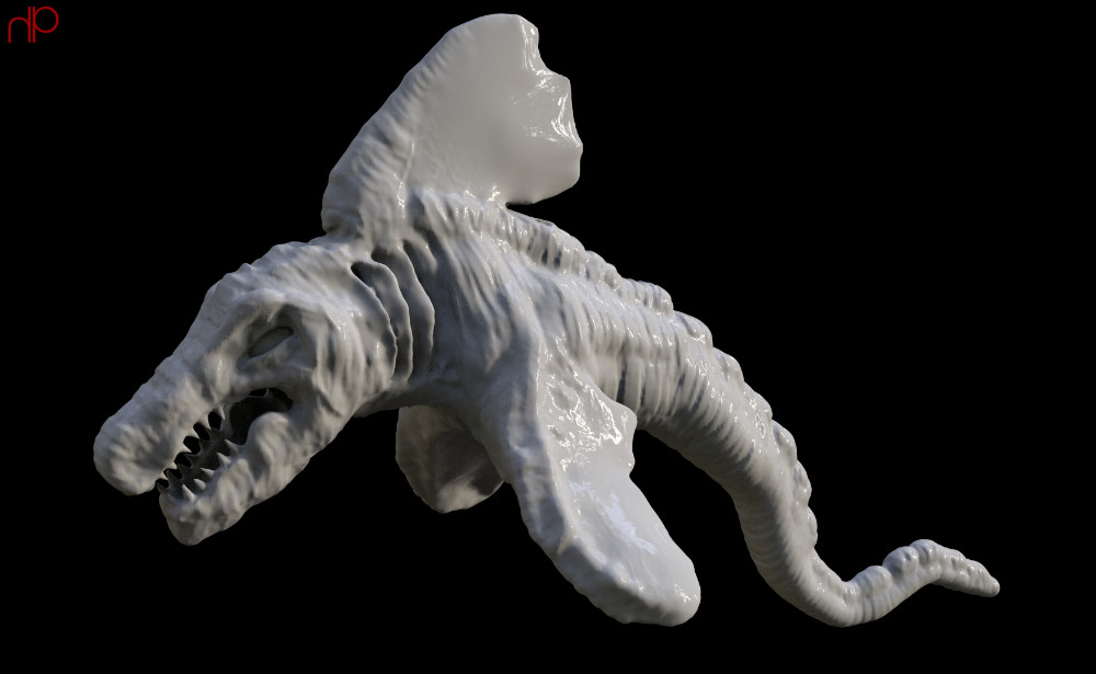 Sculpted form created in ZBrush