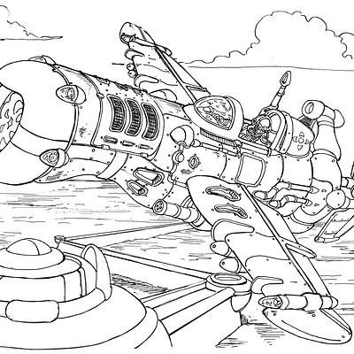 Attack Aircraft; Inktober 04 2018