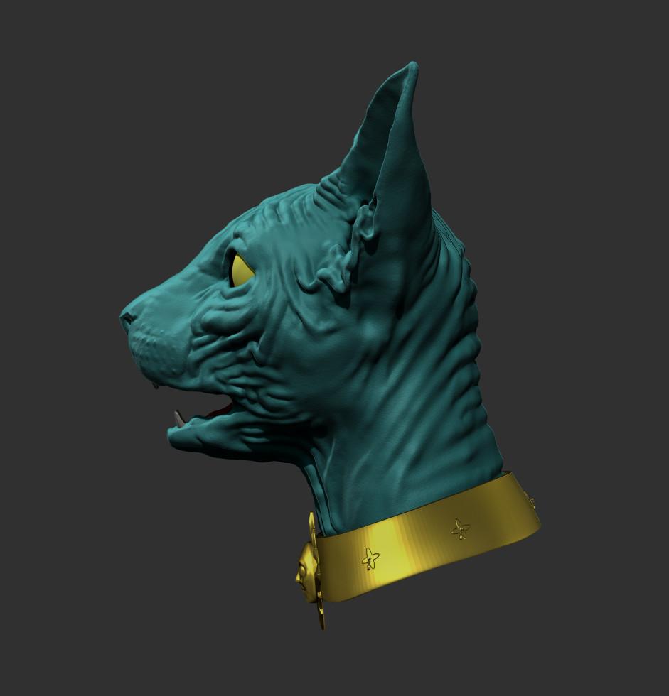 Michael Wilde - Lying Cat WIP - Zbrush Model