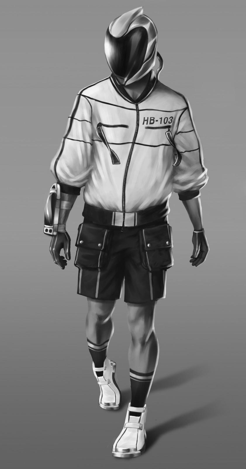 Hoverboarder character design
