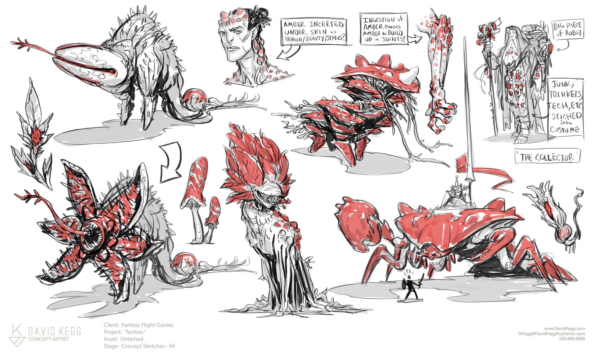 *Lower left flytrap critter designed before I saw 'Stranger Things'.  Honest! :P