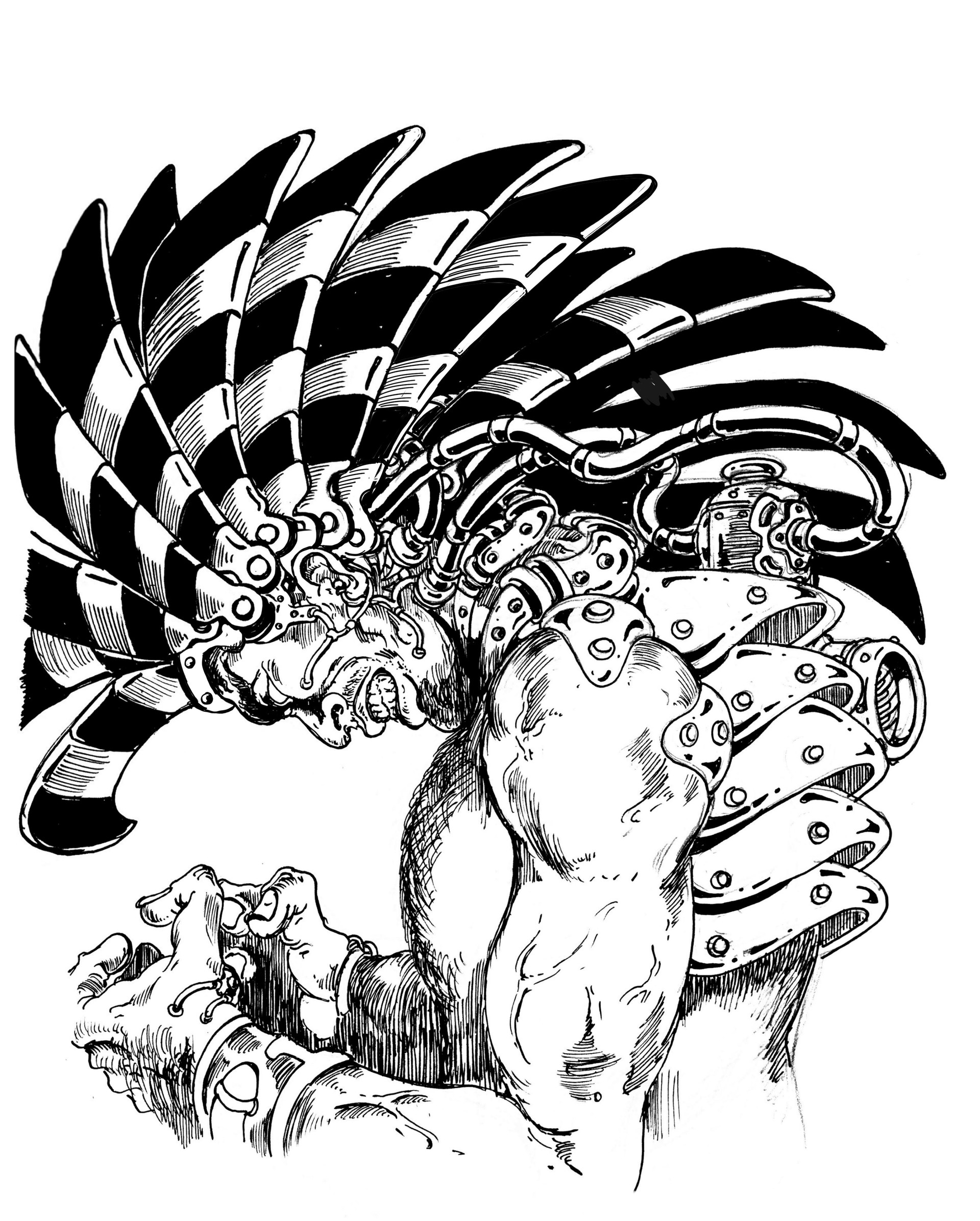 Vincent bryant inktober 07 tribal headdress