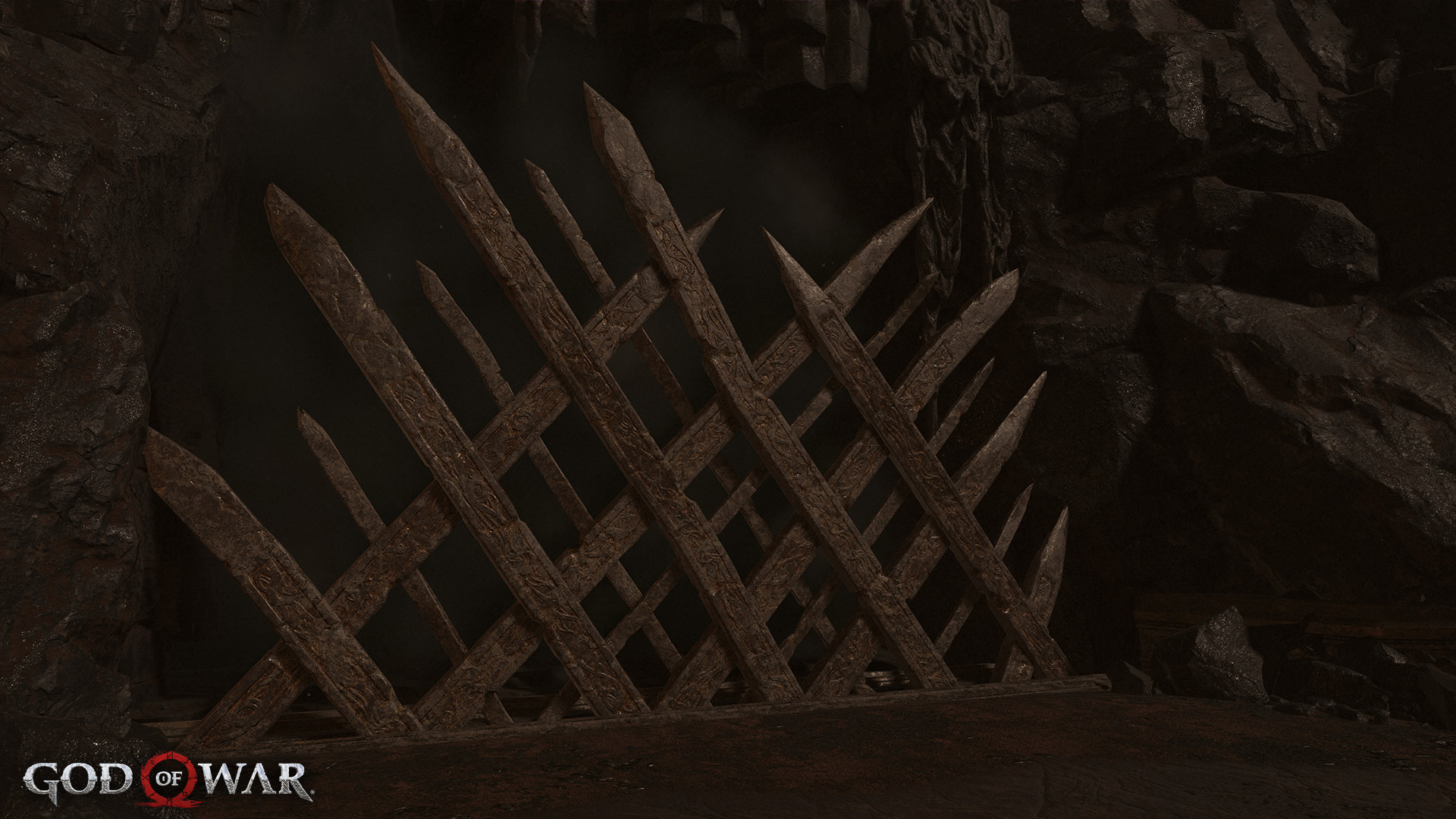 I modeled out the gate, sculpted in Zbrush, UV/bake, made the layered materials and finally placed them in-game.