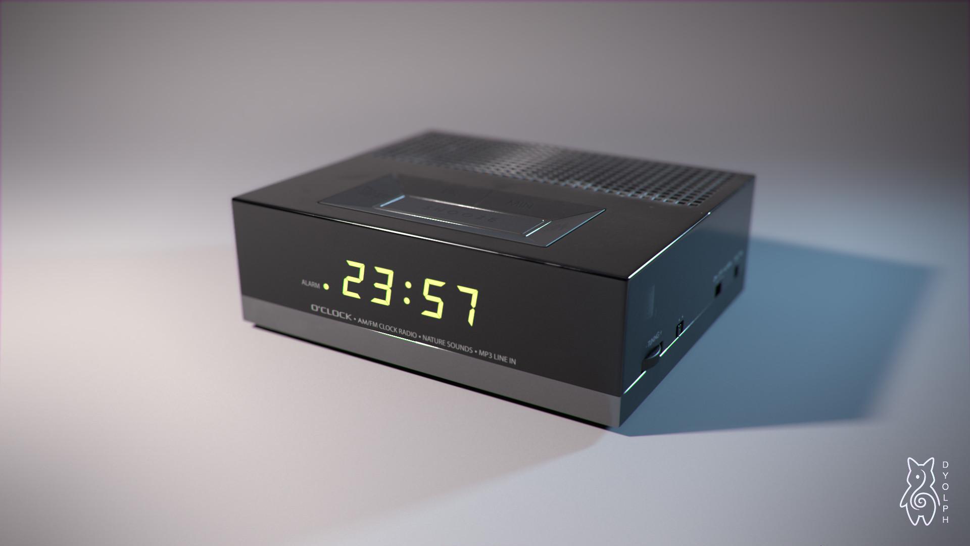 ArtStation - Alarm clock, Dylan Caillé