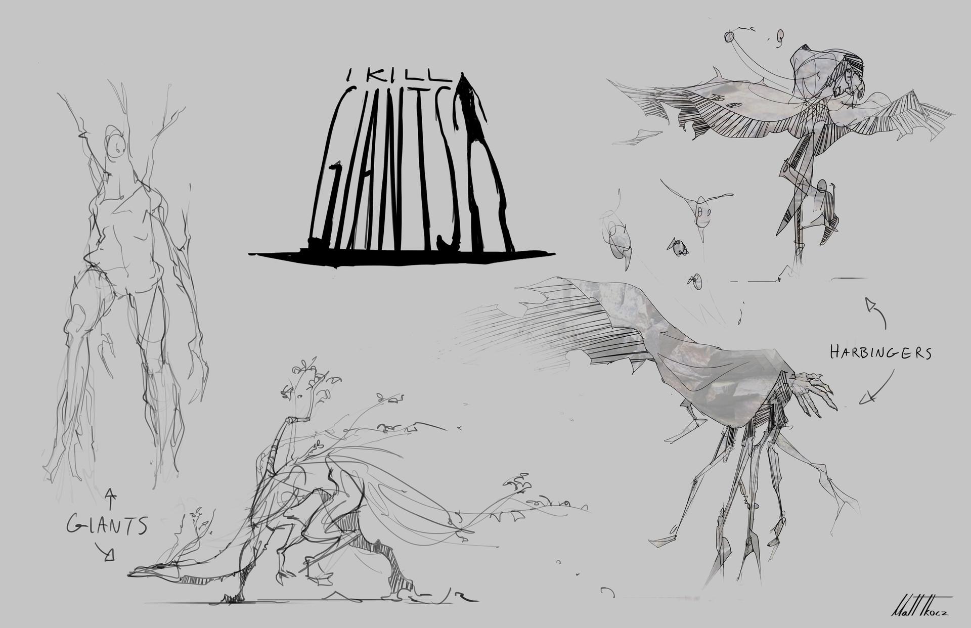Matt tkocz harbingers sketches
