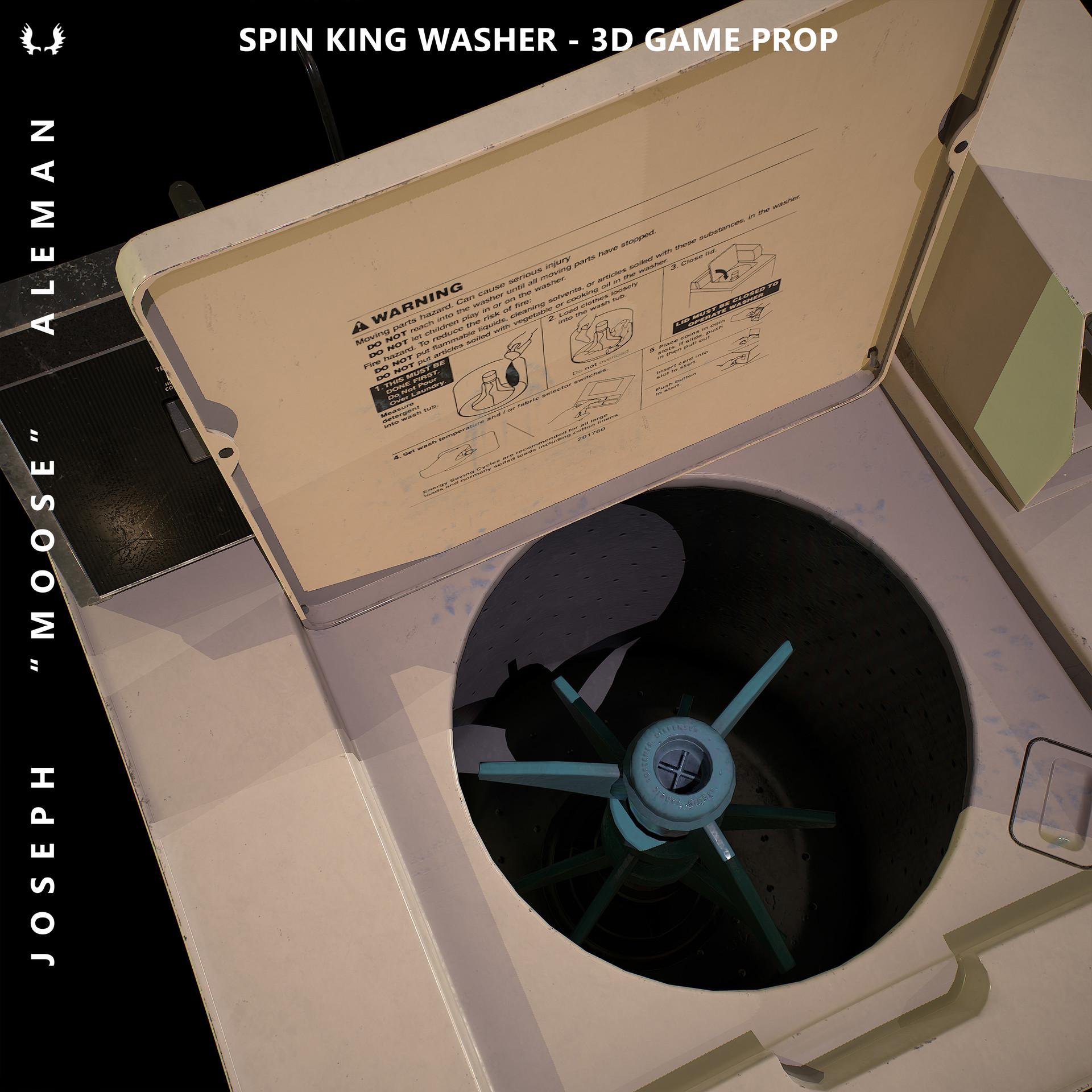 ArtStation - Spin King Washing Machine - 3d Game Prop