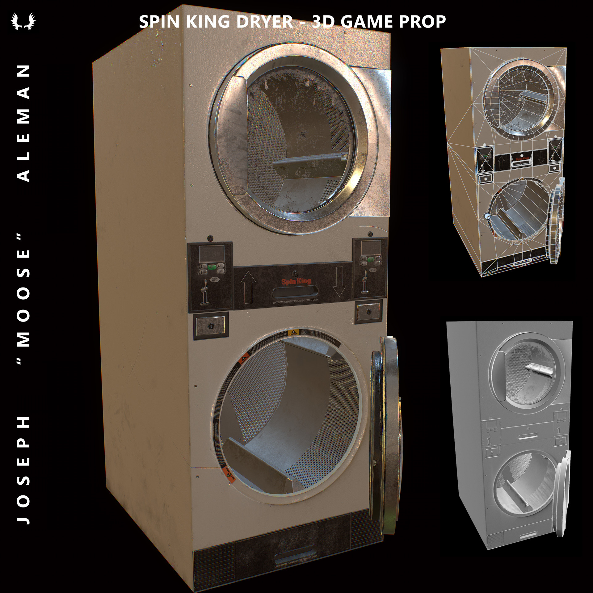 ArtStation - Spin King Dryer - 3d Game Prop, Joseph Aleman