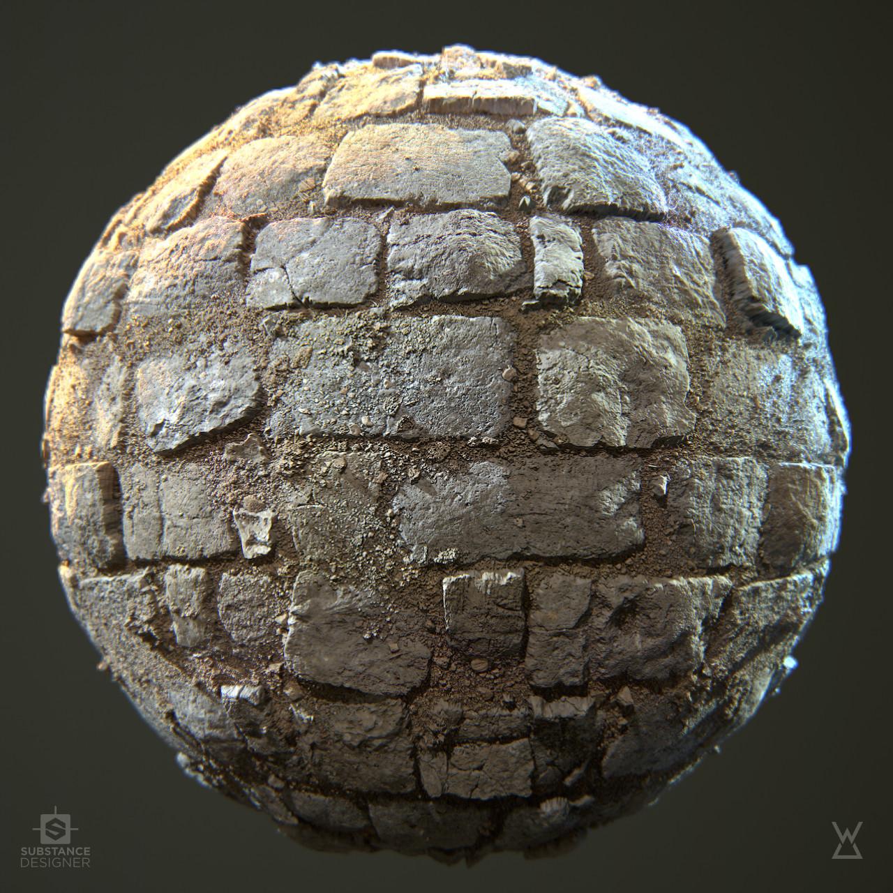 Stone floor ruins