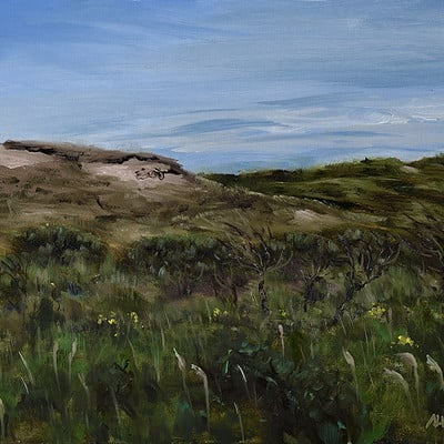 "Dunes -for sale 9.4x11.8"" (24x30cm)"