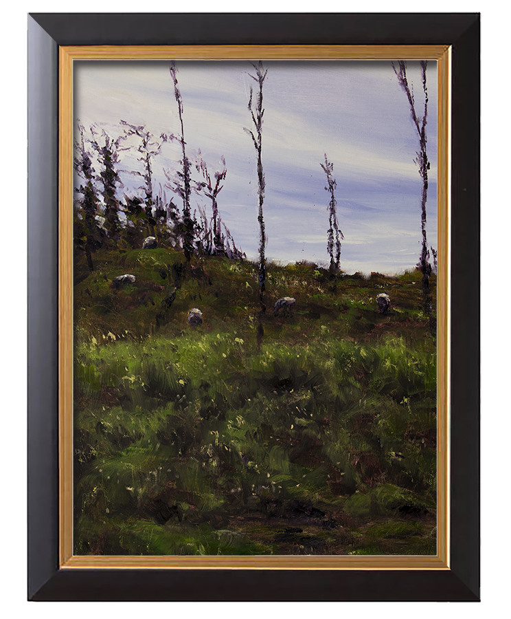Arthur haas grazing framed small