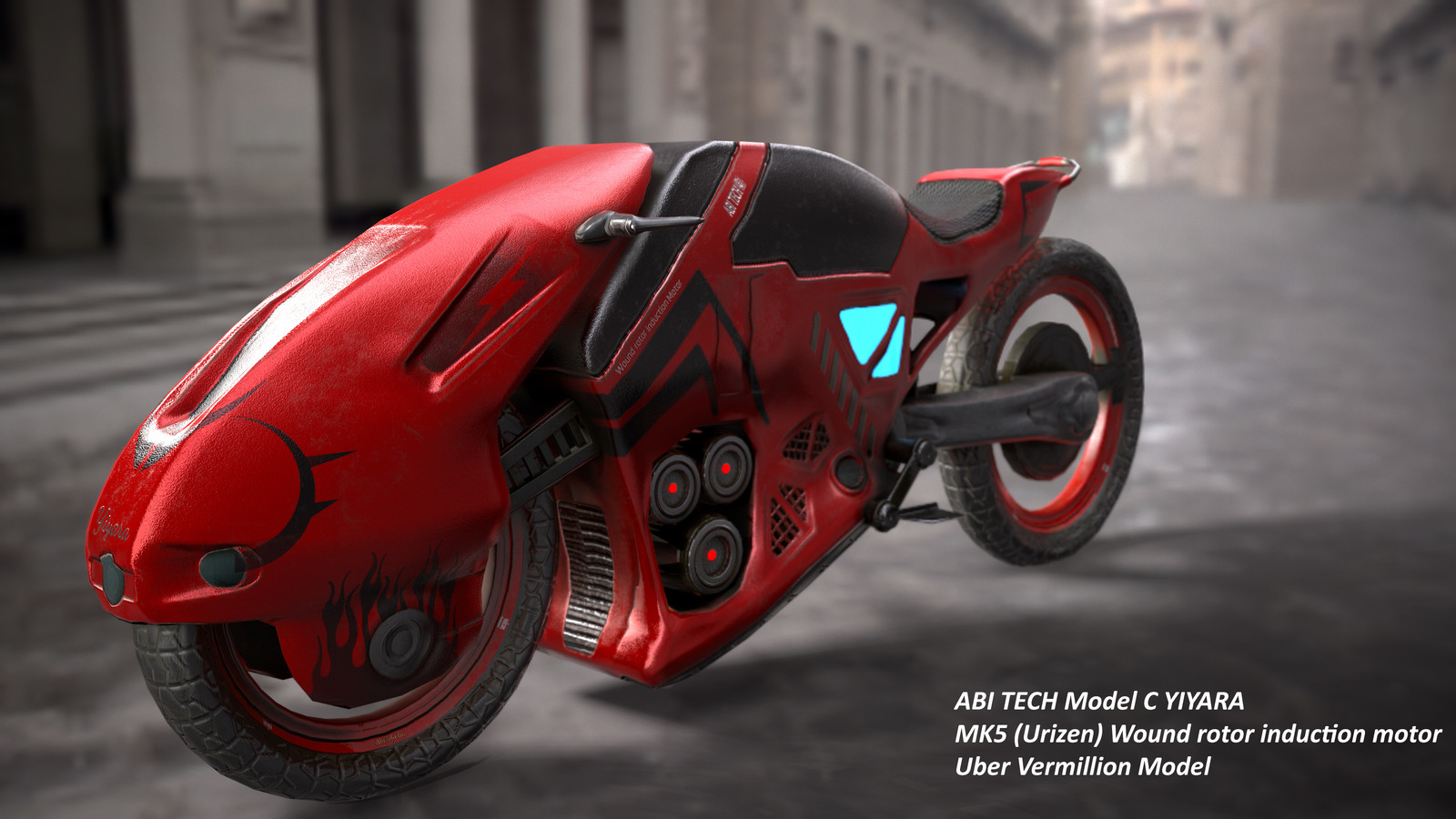 ABI Tech Model C Yiyara electric motor bike (Ultra Vermilion & Consumptive white models)