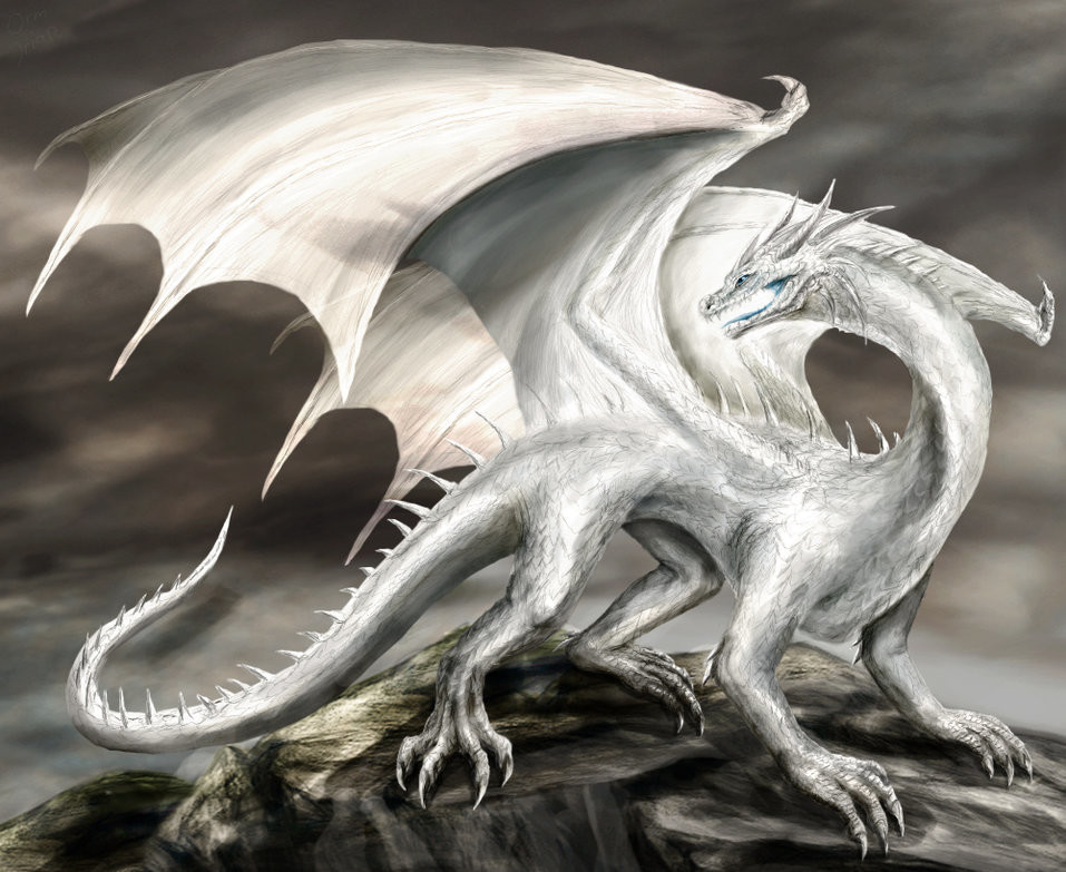Older digital art, featuring the dragon. Was never quite happy with the head and decided to do a small rework.