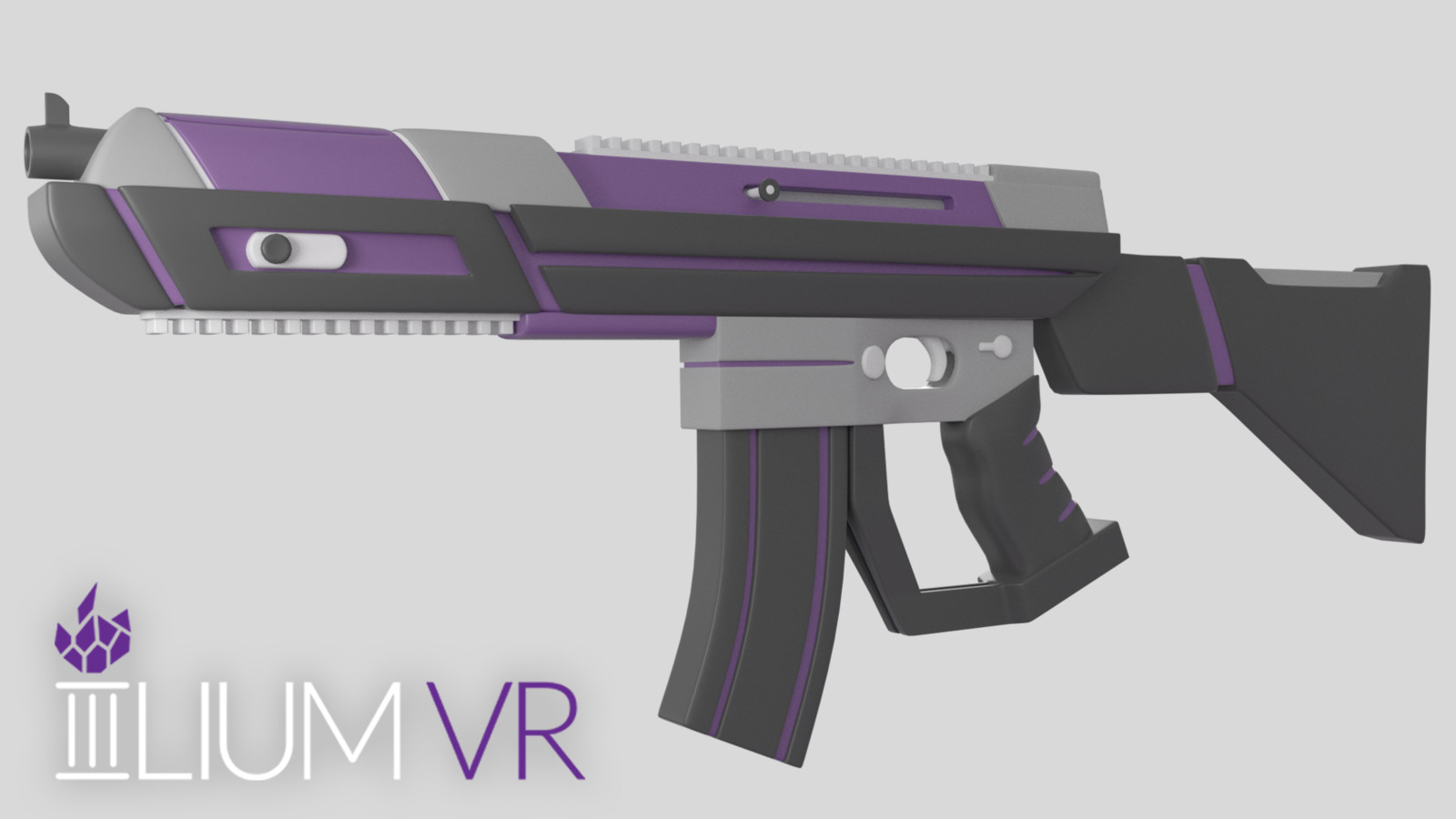 Final perspective render of completed rifle model