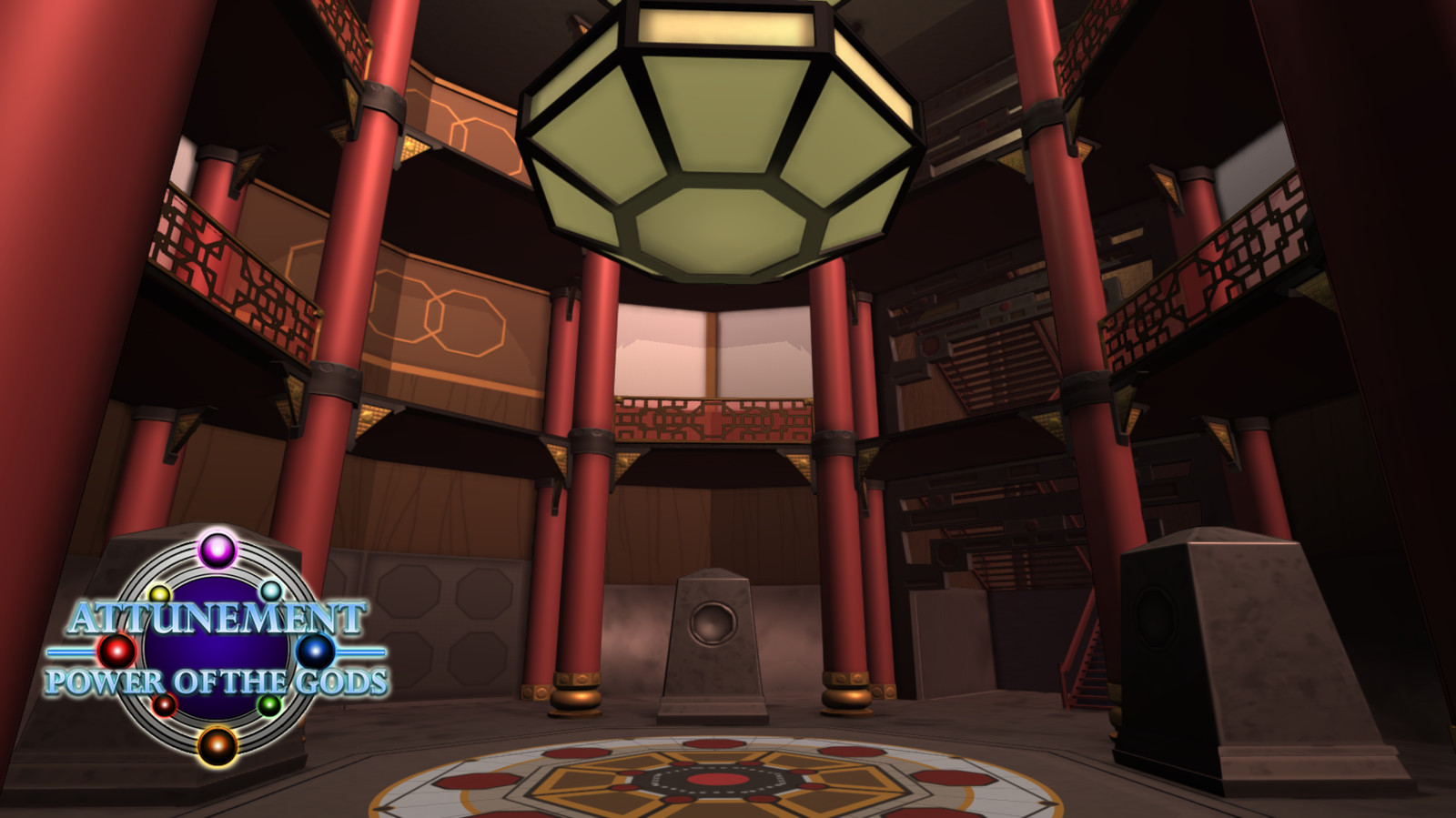 In-game capture of Crimson Tower level. Level designed and developed during my time as a contract environment artist on Attunement: Power of the Gods, an elemental arena versus game. Crimson Tower, an arena inspired by the architecture of feudal Japan.