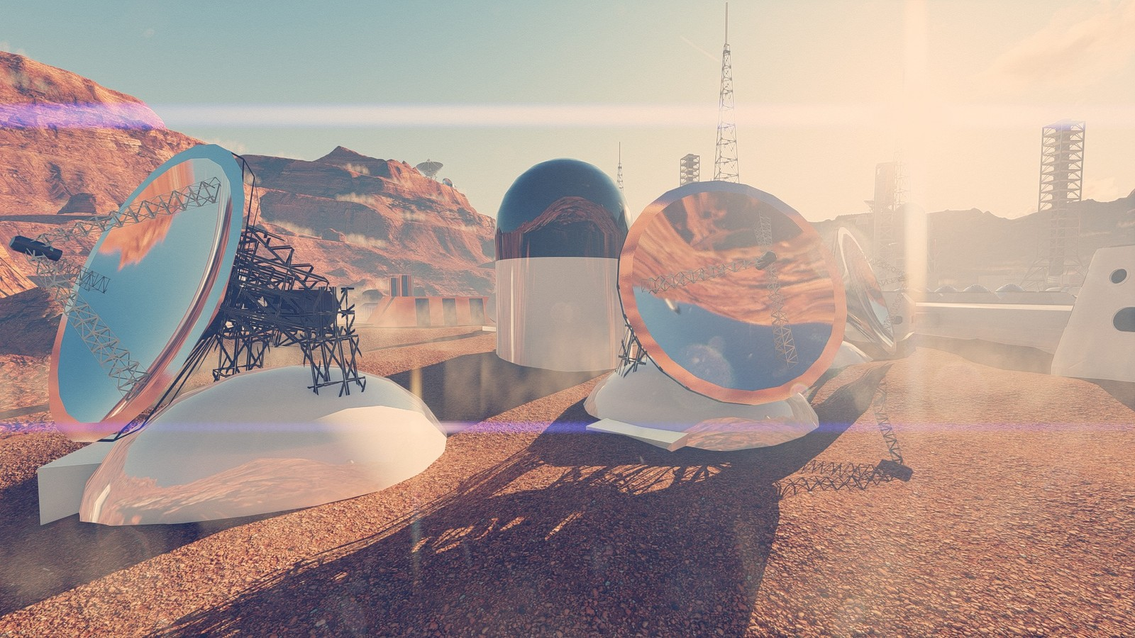 All Martian structures are designed and 3D modelings by Serdar Çakmak, Pixani Studios MARS PROJECT