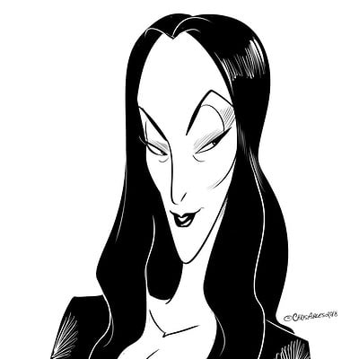 Christopher ables morticia bw