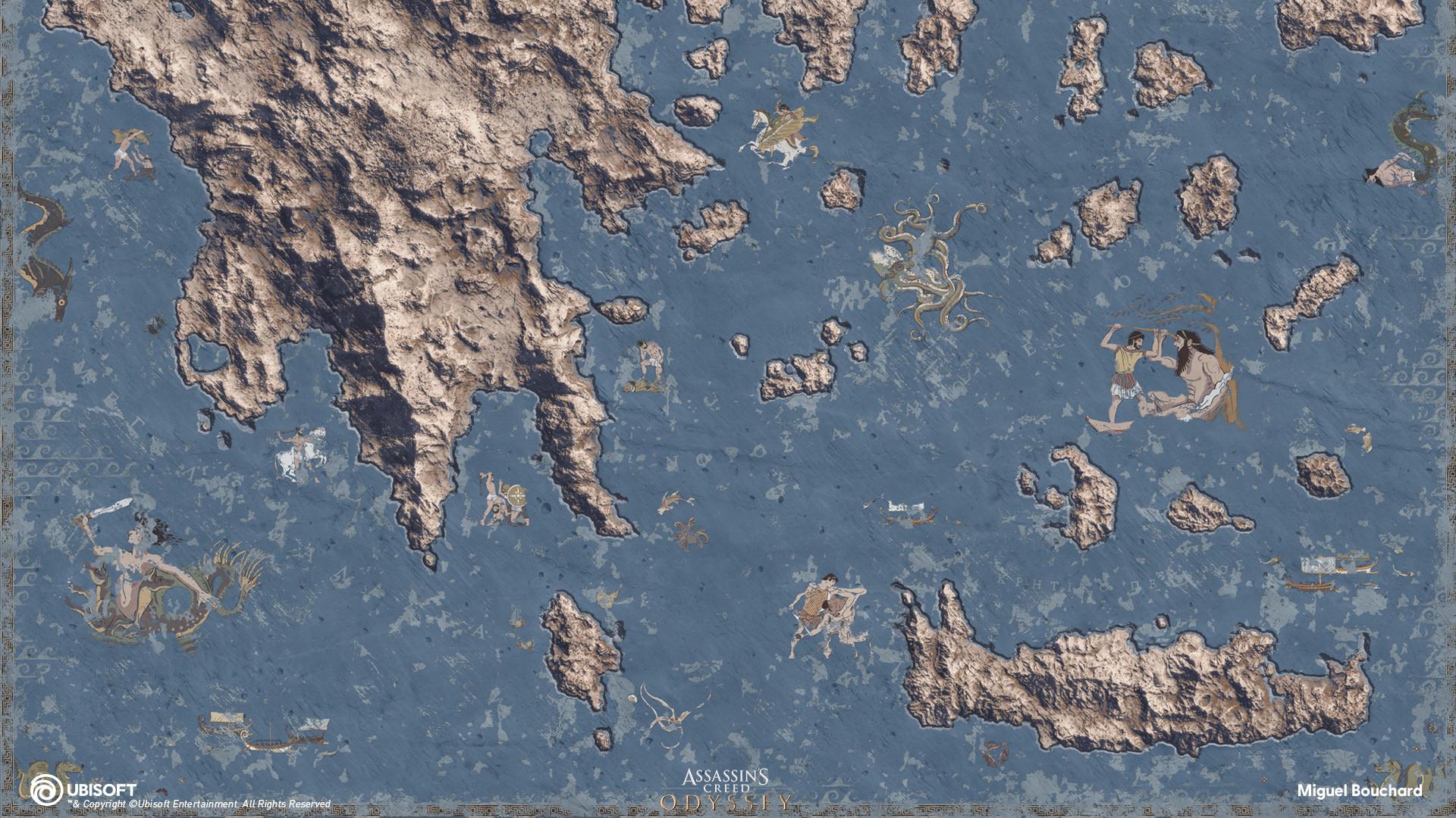 Artstation Fog Of War Map Assassin S Creed Odyssey Miguel Bouchard