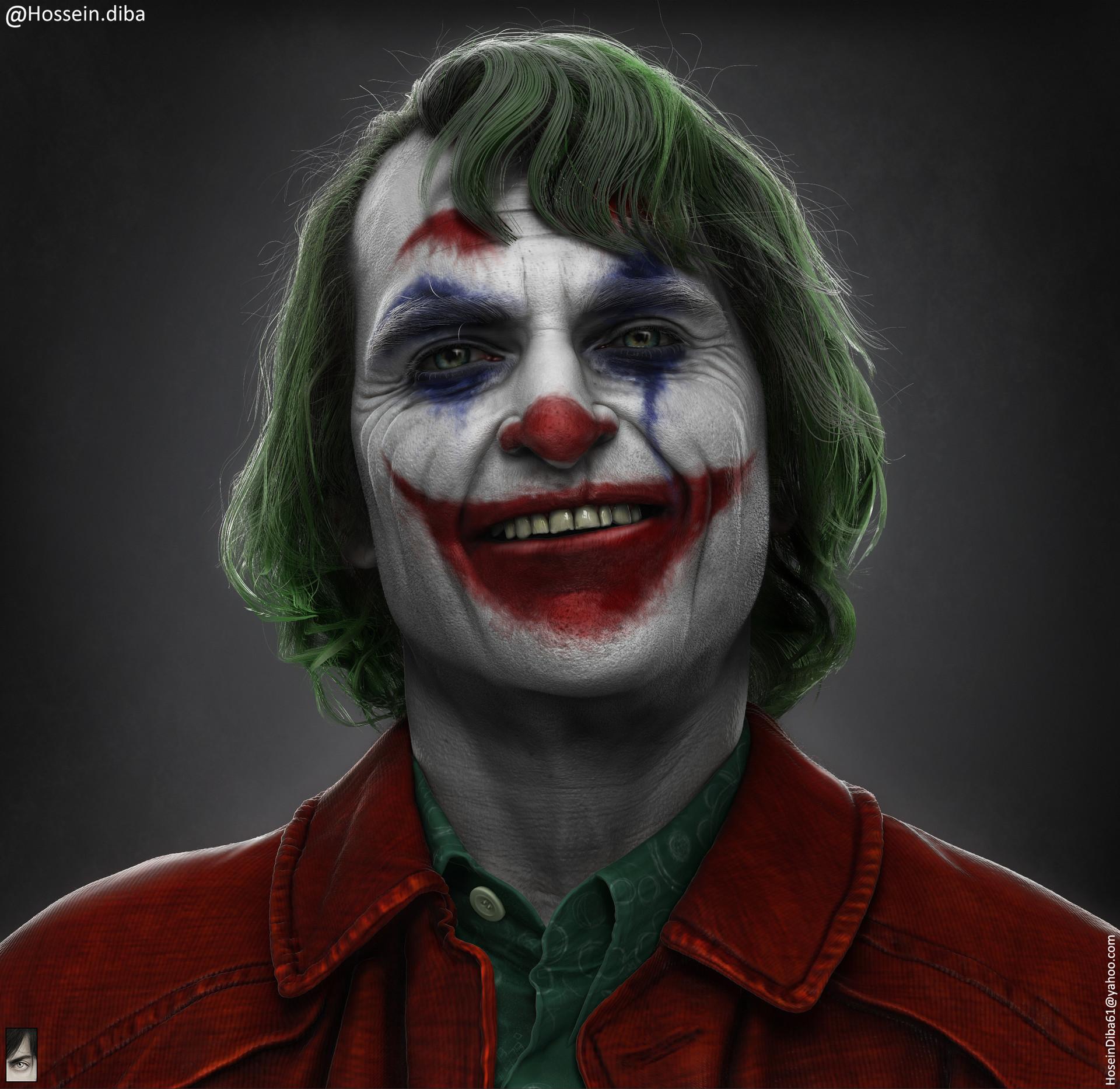 Artstation Joker Joaquin Phoenix Hossein Diba