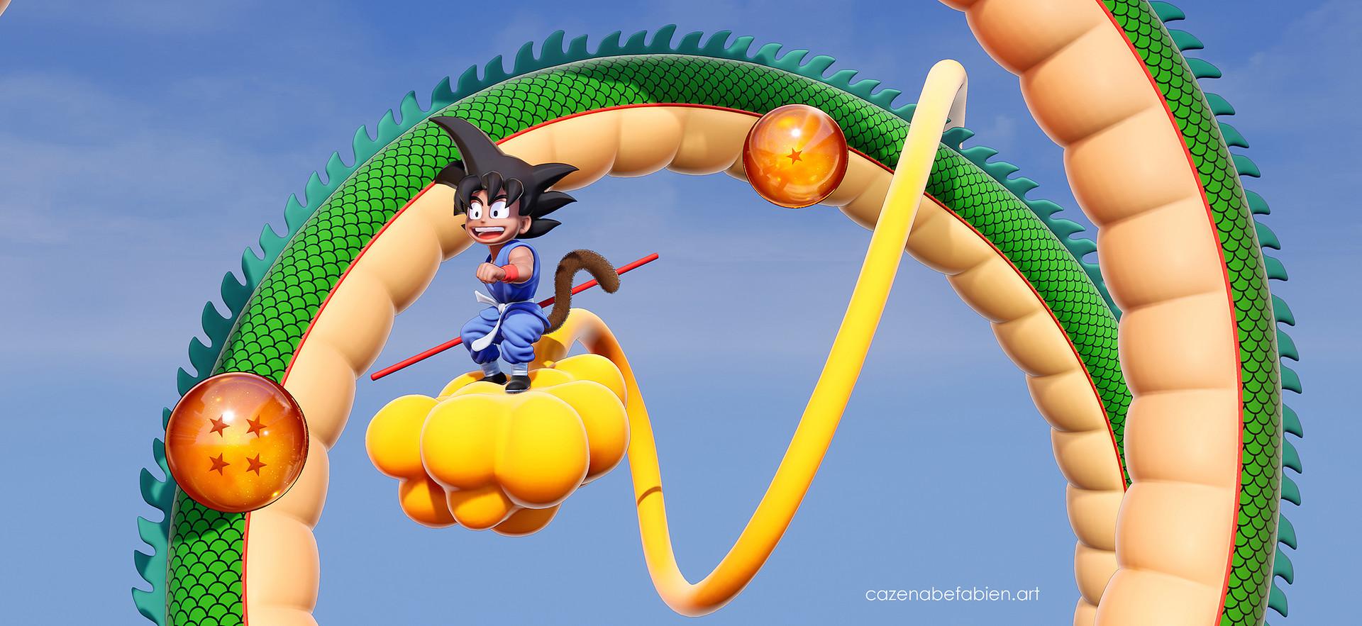 Fabien cazenabe sangoku dragon ball sculpt zbrush unreal 3d 14