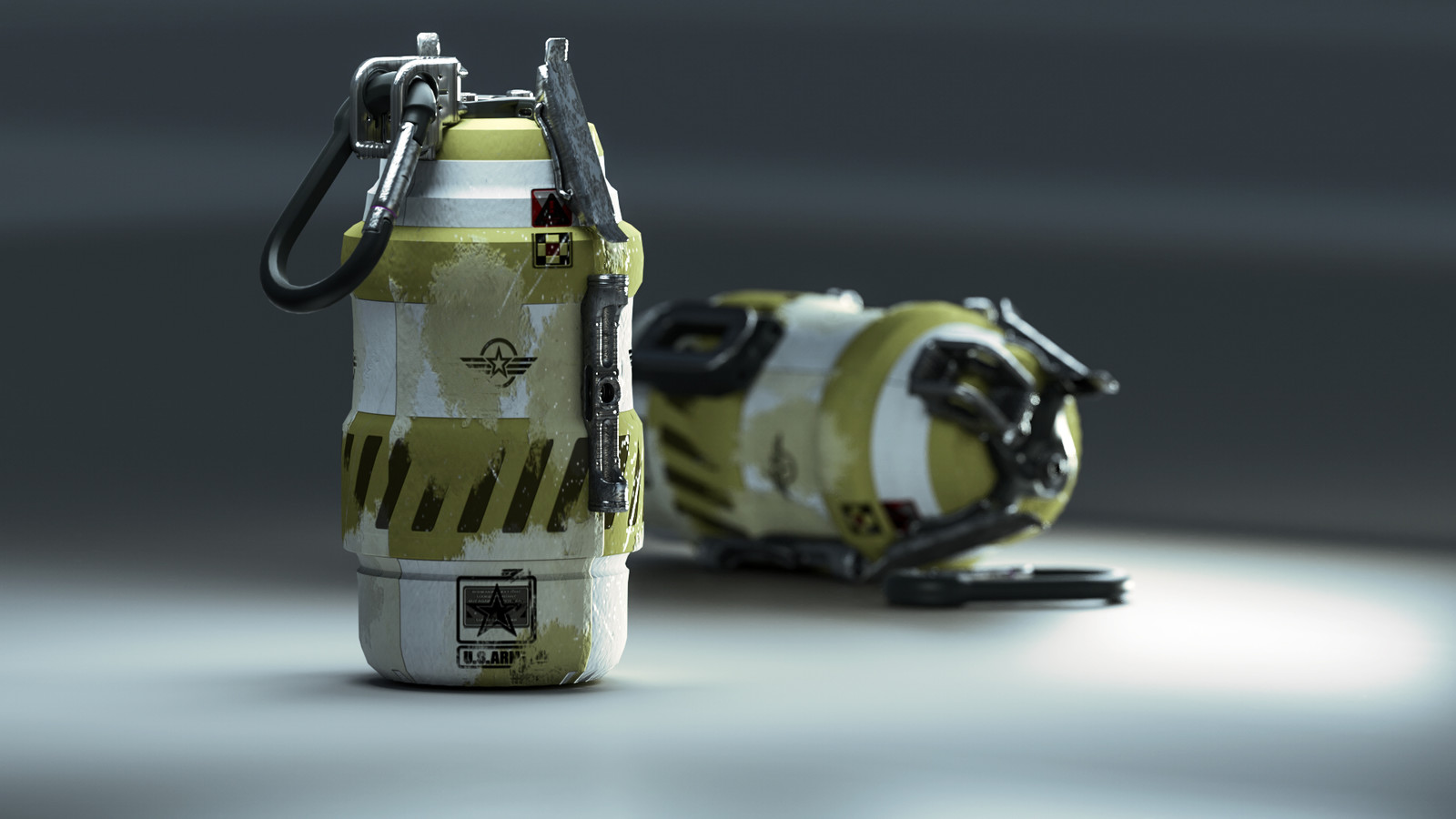 Cycles 4D Hand Grenade / Final Render