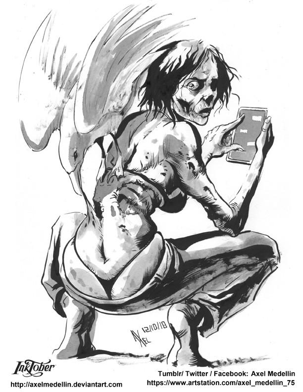 Inktober 12. Zombie.